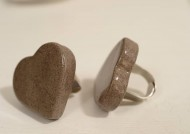 טבעת לב אפורה