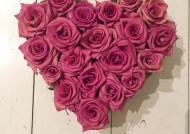 לב ורדים יבשים ורוד עתיק